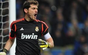 Картинка Футбол, вратарь, реал, Football, Spain, Real Madrid, Футболист, Iker Casillas, мадрид, Hala Madrid, Casillas, Captain, ...