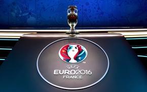 Картинка логотип, белый фон, France, кубок, UEFA, трофей, Чемпионат Европы по футболу 2016, Евро 2016, Франция …