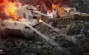 Картинка Германия, танк, Великобритания, танки, Germany, WoT, Мир танков, United Kingdom, tank, World of Tanks, tanks, …