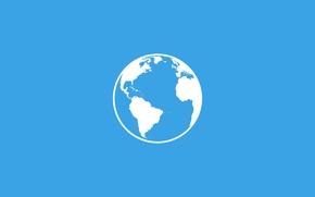 Обои материки, планета Земля, голубой фон