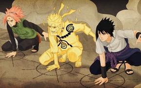 Картинка Sasuke, Naruto, Sakura, manga, ninjutsu, kuchiyose no Jutsu, the Fourth Shinobi War