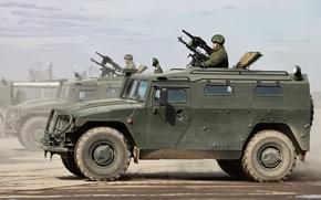 Обои Армия России, джип, армейский, военная, Тигр, машина