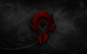 Картинка красный, World of warcraft, орда, фракция
