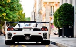 Картинка белый, Ferrari, white, феррари, Gemballa, Enzo, tuning, back