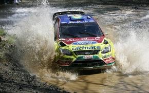 Картинка 2010, ford, rally, water, wrc, focus