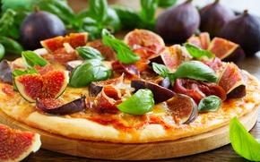 Картинка фрукты, пицца, инжир