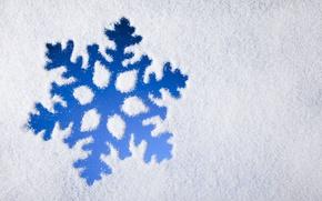 Картинка зима, снег, blue, снежинка, winter, snow