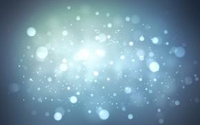 Обои круги, свет, холод, голубой, зима