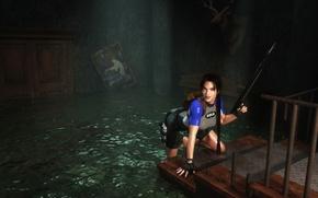 Картинка девушка, lara croft, tomb raider, eidos, harpoon