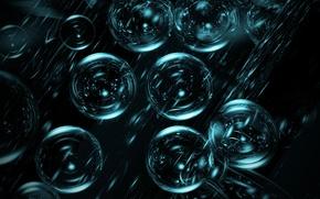 Картинка пузыри, рендеринг, шары, отблеск