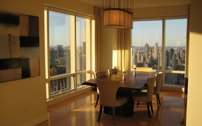 Картинка дизайн, стиль, интерьер, мегаполис, New York city, жилая комната, городская квартира, Manhattan Luxury Properties