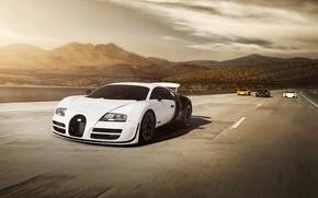 Обои bugatti, veyron, white, mclaren, mp4-12c, yellow, porsche, carrera gt
