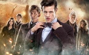 Картинка взгляд, девушки, актеры, Doctor Who, мужчины, Доктор Кто, David Tennant, Дэвид Теннант, Мэтт Смит, Matt ...