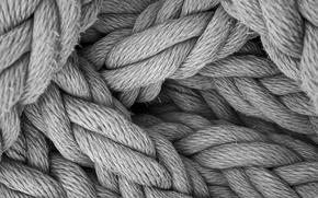 Картинка чёрно-белое, канаты, плетение