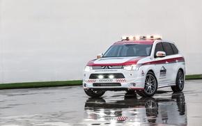 Обои Mitsubishi, Outlander, аутлендер, кроссовер, мицубиси, Safety Car