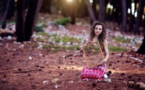 Картинка лес, девушка, зеркало, Alessandro Di Cicco, Empty inside