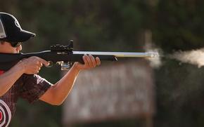 Картинка look, shooter, .22 caliber, modified rifle