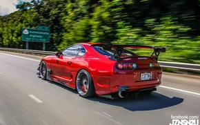Картинка turbo, red, supra, japan, toyota, jdm, tuning, race