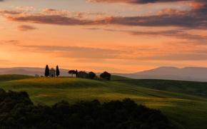 Картинка природа, sunrise, Madonna di Vitaleta