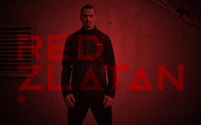 Картинка Manchester United, Манчестер Юнайтед, Златан Ибрагимович, Zlatan Ibrahimovic, RED ZLATAN