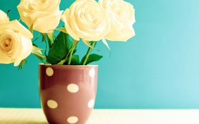 Картинка цветы, стол, розы, кружка, vintage, винтаж, flowers, roses