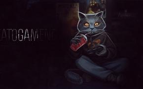 Обои game, игра, Кот, cat, игры, Half-Life