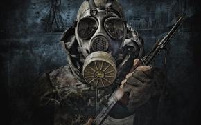Картинка солдат, сталкер, зов припяти, припять, калаш, S.T.A.L.K.E.R, Call Of Pripyat