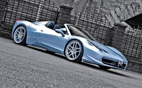 Обои ferrari 458 spider, car, tuning, kahn design