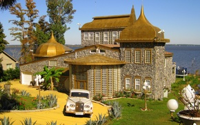Картинка город, дом, архитектура, особняк, экстерьер, mansion on Pensacola bay