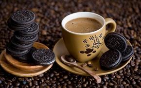 Картинка coffee, cookies, decoration