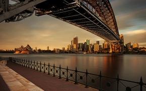 Картинка закат, вечер, Австралия, Сидней
