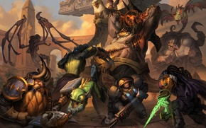 Картинка Heroes of the Storm, sarah kerrigan, Jim Raynor, warcraft, diablo, Tyrael, Rehgar, Stitches, starcraft, Murky, ...