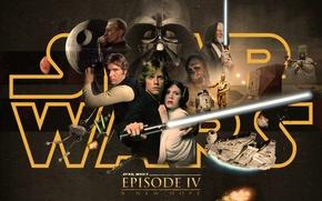 Обои Death Star, Obi-Wan Kenobi, Оби-Ван Кеноби, Звездные войны, Люк Скайуокер, Чубакка, световой меч, Star Wars, ...