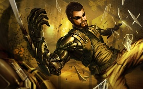 Обои Adam Jensen, game, игра, Deus Ex Mankind Divided, Адам Дженсен
