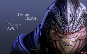 Картинка Mass Effect, krogan, Grunt