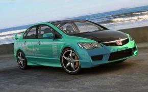 Картинка графика, арт, Honda, Civic, Type R, dangeruss, tuner