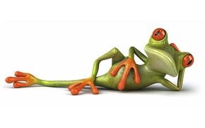 Картинка поза, графика, лягушка, Free frog 3d