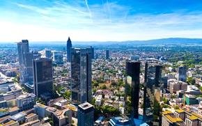 Обои небо, облака, движение, голубое, здания, дома, Германия, горизонт, день, панорама, архитектура, мегаполис, Germany, улицы, тёплый, ...