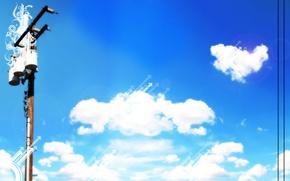 Обои небо, обоя, голубой, пейзаж, природа