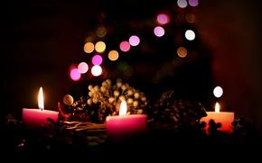 Картинка фон, праздник, свечи