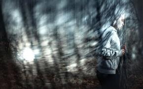 Картинка девушка, наушники, бег, Roman Filippov