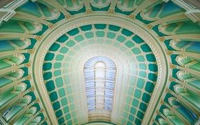 Картинка купол, Дублин, Национальная библиотека Ирландии, читальный зал