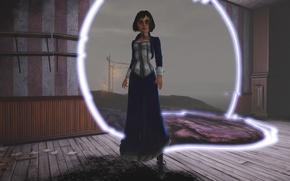 Картинка камни, комната, фонари, разрыв, Bioshock Infinite, Элизабет, Elisabeth