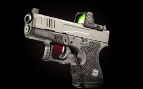 Картинка пистолет, фон, Glock, самозарядный