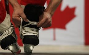 Картинка игра, Канада, хоккей, шнурки, коньки