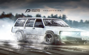 Картинка drift, nfs, volvo, Speedhunters, tribute, 940, yasiddesign