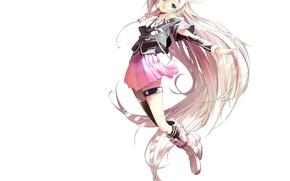 Картинка девушка, аниме, арт, белый фон, vocaloid, akasaka aka