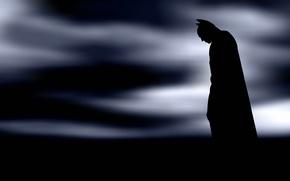 Обои силуэт, Batman, Arkham, супергерой