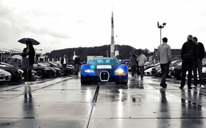 Картинка дождь, veyron, bugatti