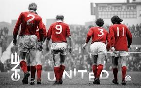 Картинка Manchester United, Манчестер Юнайтед, George Best, ONE UNITED, Сэр Бобби Чарльтон, Sir Bobby Charlton, Джордж …